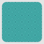 Modelo de madera azul abstracto pegatina cuadradas