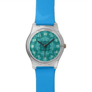 Modelo de madera azul abstracto relojes de mano