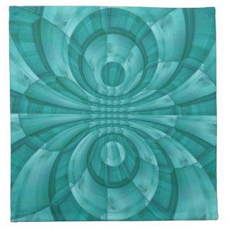 Modelo de madera azul abstracto servilletas imprimidas