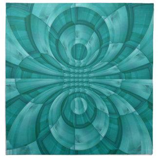Modelo de madera azul abstracto servilletas de papel