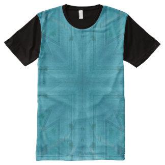 Modelo de madera azul de la textura