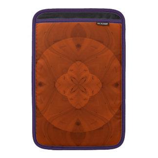 Modelo de madera coloreado rojizo funda para macbook air