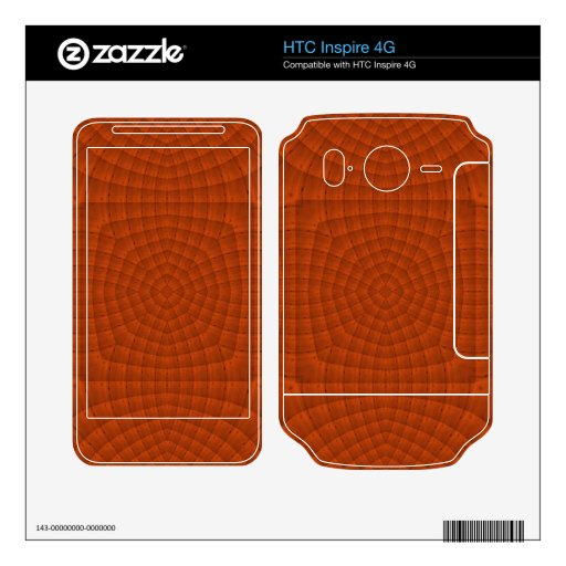 Modelo de madera coloreado rojizo HTC inspire 4G skin