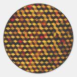 modelo de madera cuadrado pegatinas redondas