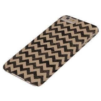 Modelo de madera de Chevron del grano de la prensa Funda De iPhone 6 Plus Barely There