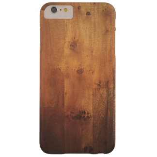 Modelo de madera de la mirada de la viruta de funda barely there iPhone 6 plus