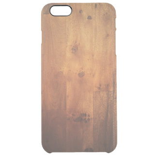 Modelo de madera de la mirada de la viruta de funda clear para iPhone 6 plus
