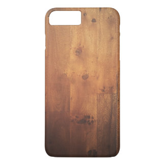 Modelo de madera de la mirada de la viruta de funda iPhone 7 plus