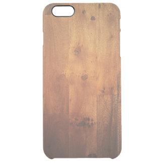 Modelo de madera de la mirada de la viruta de funda clearly™ deflector para iPhone 6 plus de unc