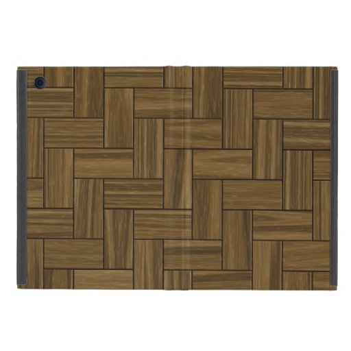 Modelo de madera de la raspa de arenque iPad mini cárcasas