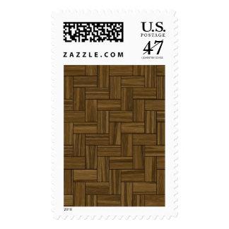 Modelo de madera de la raspa de arenque sellos