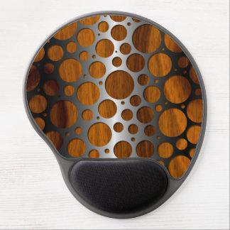 Modelo de madera de moda moderno del grano del alfombrilla de raton con gel