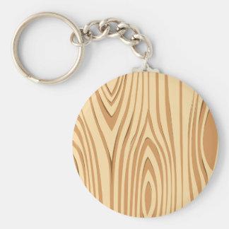 Modelo de madera del grano llavero redondo tipo pin