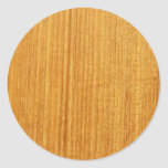 Modelo de madera del grano pegatina redonda