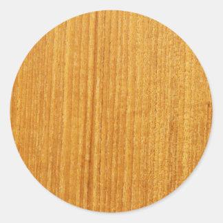 Modelo de madera del grano pegatinas redondas