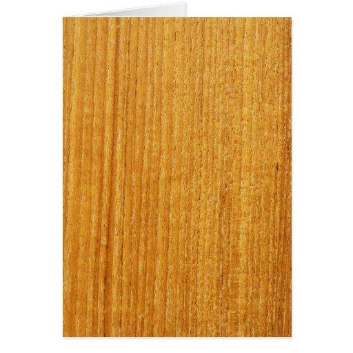 Modelo de madera del grano tarjeta de felicitación