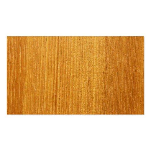Modelo de madera del grano tarjetas de visita