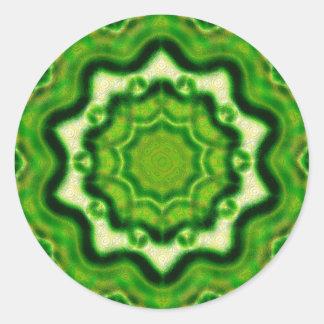 Modelo DE MADERA del kaleido del elemento Pegatina Redonda
