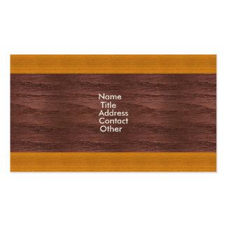 Modelo de madera del panel tarjetas de visita