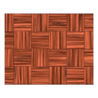 Modelo de madera del piso de entarimado de la cere impresiones fotograficas