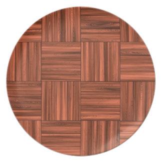 Modelo de madera del piso de entarimado de la platos para fiestas