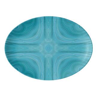 Modelo de madera elegante azul badeja de porcelana