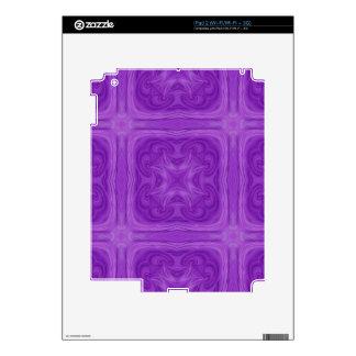 Modelo de madera elegante azul púrpura iPad 2 skins