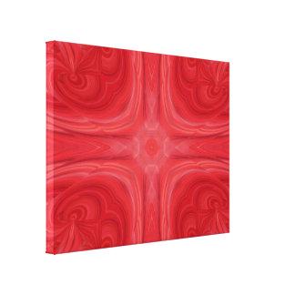 Modelo de madera elegante rojo lona estirada galerías