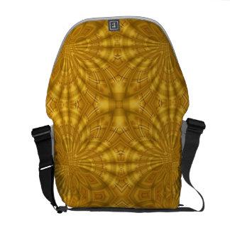 Modelo de madera geométrico abstracto bolsas de mensajeria