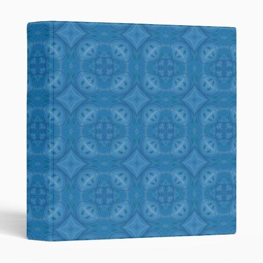 """Modelo de madera geométrico azul carpeta 1"""""""