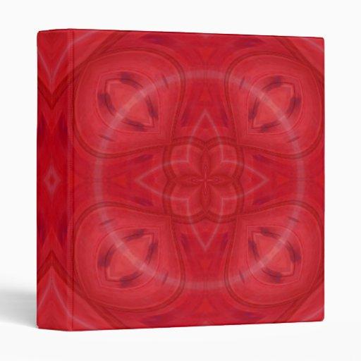 Modelo de madera geométrico rojo