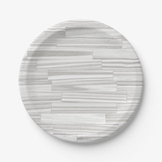 Modelo de madera gris blanco abstracto moderno del plato de papel de 7 pulgadas