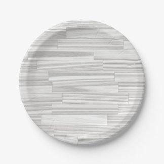 Modelo de madera gris blanco abstracto moderno del platos de papel