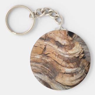 Modelo de madera llavero redondo tipo pin