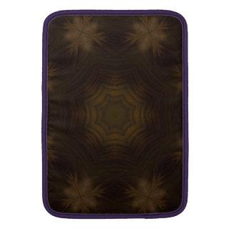 Modelo de madera oscuro funda para macbook air