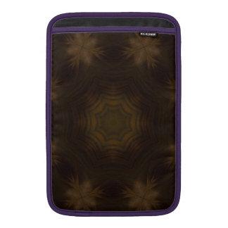 Modelo de madera oscuro fundas macbook air