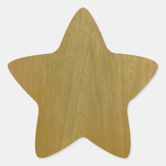Modelo de madera pegatina en forma de estrella