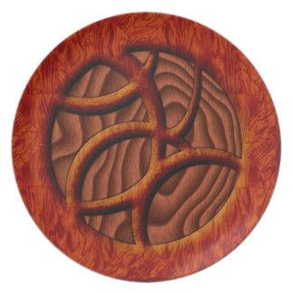 Modelo de madera platos