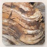 Modelo de madera posavasos