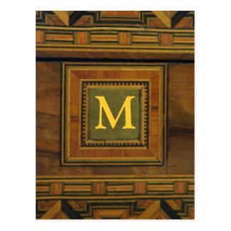 Modelo de madera postales