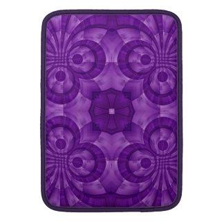 Modelo de madera púrpura abstracto fundas macbook air