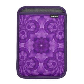 Modelo de madera púrpura abstracto funda iPad mini