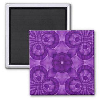 Modelo de madera púrpura abstracto imán cuadrado