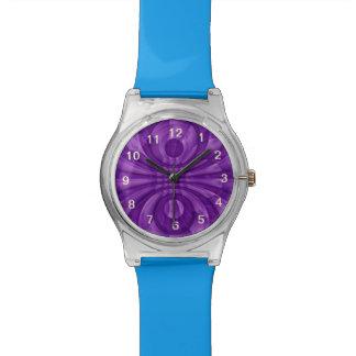Modelo de madera púrpura abstracto relojes de mano