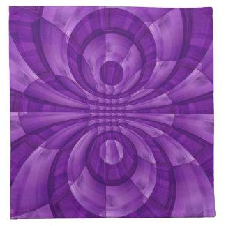 Modelo de madera púrpura abstracto servilleta imprimida