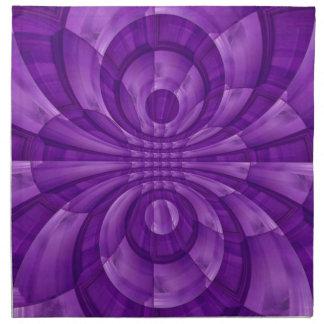 Modelo de madera púrpura abstracto servilleta