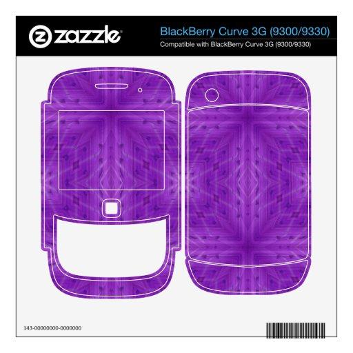 Modelo de madera púrpura de la textura BlackBerry curve calcomanías