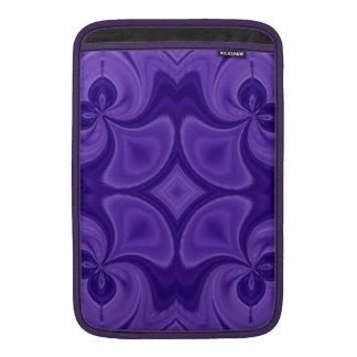 Modelo de madera púrpura decorativo fundas MacBook