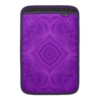 Modelo de madera púrpura moderno fundas para macbook air