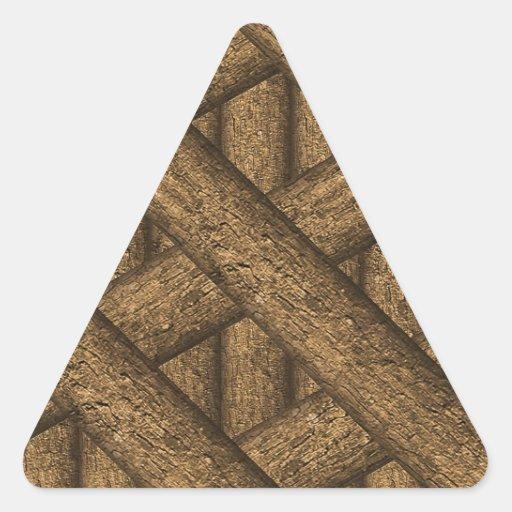 Modelo de madera real calcomania trianguloada